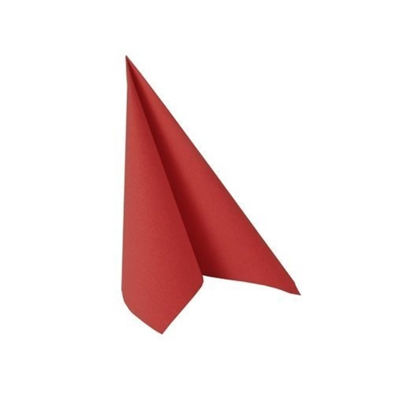 Napkins Red 24x24cm 2 Layers 1-4 fold  - Horecavoordeel.com