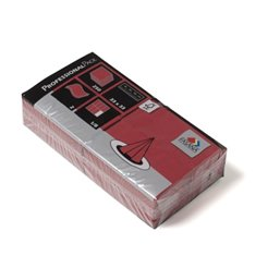 Napkins Bordeaux 33x33cm 2 Layers 1-8 fold - Horecavoordeel.com