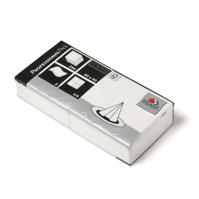 Napkins White 40x40cm 2 Layers 1-4 fold Fasana - Horecavoordeel.com