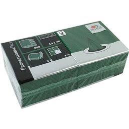 Napkins Green 40x40cm 3 Layers 1-4 fold