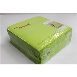 Napkins Kiwi Green 40x40cm Airlaid 60 Grams 1-4 fold Mank - Horecavoordeel.com