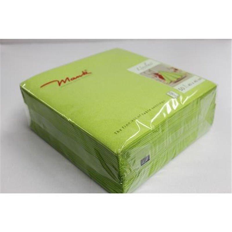 Servetten Airlaid Kiwi Groen 60 Grams 1/4 Vouw Mank 400 x 400mm Horecavoordeel.com