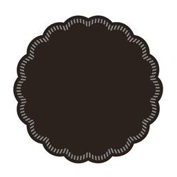 Onderzetter Zwart Cellulose 8 Laags 90mm