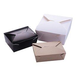 Paper Trays 2880ml Biopack Plus 4 Earth Recycled 222x164x89mm - Horecavoordeel.com