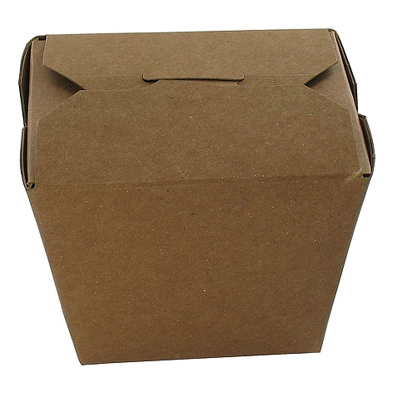 Paper Trays 750ml Fold-PackagesEarth Recycled Brown 26oz. 79x67x101mm - Horecavoordeel.com
