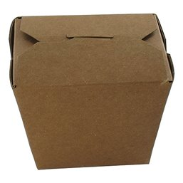 Paper Trays 920ml Fold-PackagesEarth Recycled Brown 32oz 86x67x108mm - Horecavoordeel.com