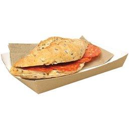 Paper Trays Brown Sandwich Trays 160x100x24mm - Horecavoordeel.com