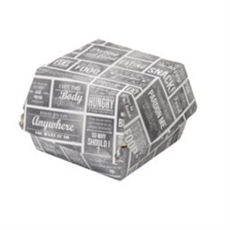 Hamburgerbakken Karton Groot Pubchalk
