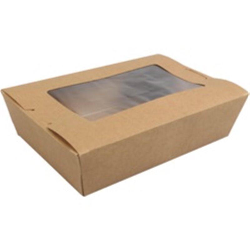 Meal Trays Kraft paper and Pla 120x180x50mm - Horecavoordeel.com