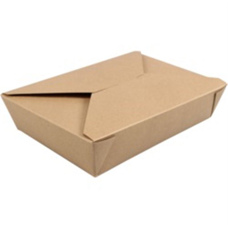 Meal Trays Kraft paper and Pla 215x158x48mm (Small package) - Horecavoordeel.com