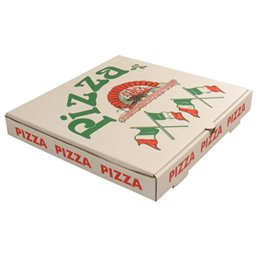 Pizza box 33x33x4,5cm Americano 3mm Wit