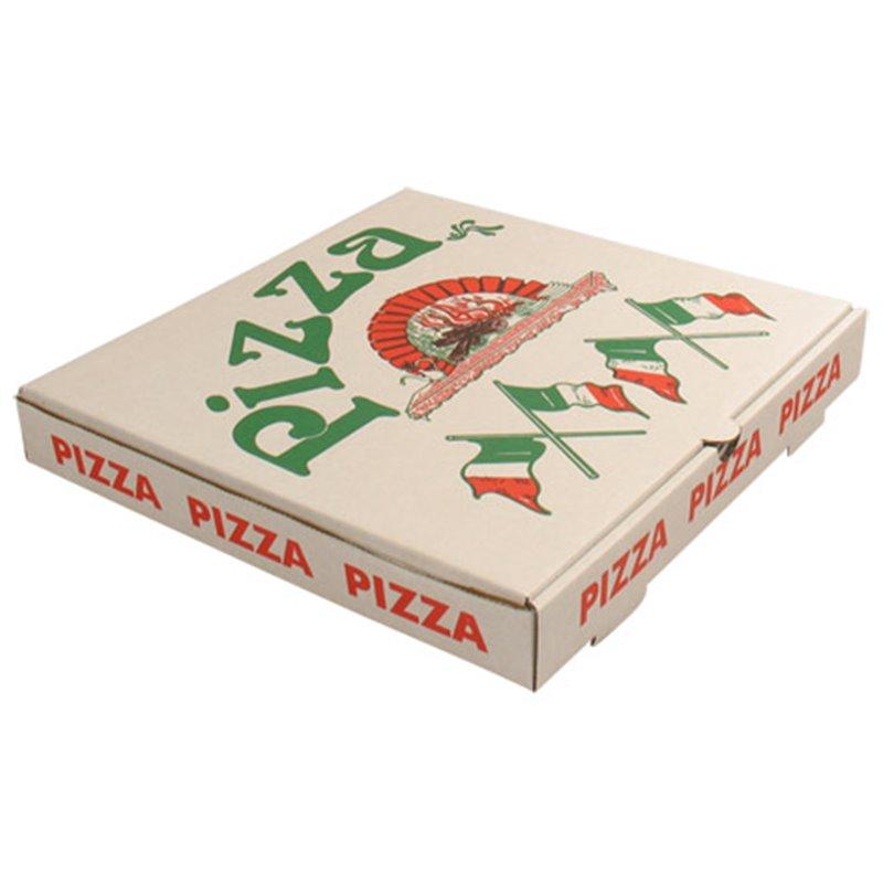 Pizza box 36x36x4,5cm Americano 3mm Wit - Horecavoordeel.com