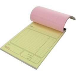 Cash register block 3-fold Carbon 14x21cm