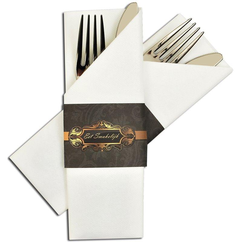 Bestekservet Airlaid Wit 400 x 330mm Horecavoordeel.com