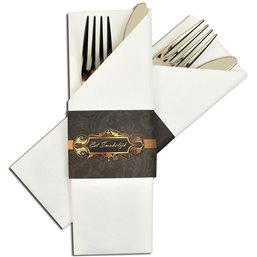 Cutlery napkin with Band Enjoy your meal (In Dutch) - Horecavoordeel.com
