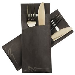 Cutlery bag Cobra Black Pochetto