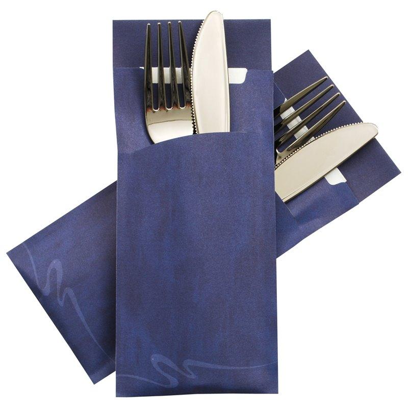 Cutlery bag Nr 4 blue Pochetto  - Horecavoordeel.com