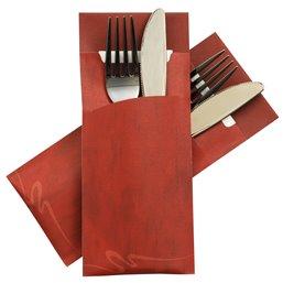 Cutlery bag Nr 5  red Pochetto