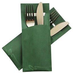 Cutlery bag Nr 6 green Pochetto