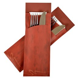 Cutlery bag Large Nr 5  red Pochetto