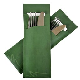 Cutlery bag Large Nr 6 green Pochetto - Horecavoordeel.com
