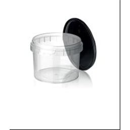 Ringlock Cups - containers With seal closure 520cc PP Clear + Lid PP Black