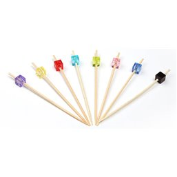 Bamboo Prickers bead Square Assortment 90mm