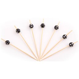 Bamboo Prickers with Black bulb with Diamonds 90mm