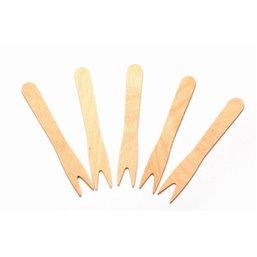 Wooden French fries Forks (fsc) 85mm