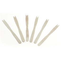 Wooden French fries Forks (fsc) 140mm