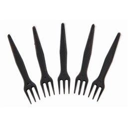 French fries forks Plastic Black 85mm