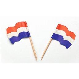 """Vlag Prikkers """"Nederland"""" Wapperend"""