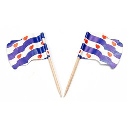 """Vlag Prikkers """"Friesland"""" Wapperend"""