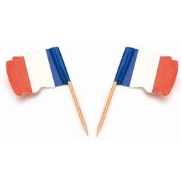 """Vlag Prikkers """"Frankrijk"""" Wapperend"""
