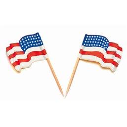 """Vlag Prikkers """"USA"""" Wapperend"""