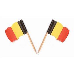 """Vlag Prikkers """"België"""" Wapperend"""