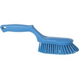 Ergonomische Handborstel Polyester Vezels, Hard 330x95x110mm Blauw