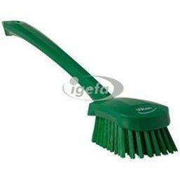 Dish brush With Tall Helve Polyester Fiber, Hard 415x71x75mm Green