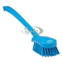 Dish brush With Tall Helve Polyester Fiber, Hard 415x71x75mm Blue