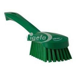 Dish brush With Short Helve Polyester Fiber, Medium 270x70x85mm Green