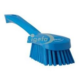 Dish brush With Short Helve Polyester Fiber, Medium 270x70x85mm Blue