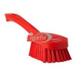 Dish brush With Short Helve Polyester Fiber, Medium 270x70x85mm Red