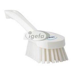 Dish brush With Short Helve Polyester Fiber, Medium 270x70x85mm White
