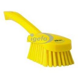Dish brush With Short Helve Polyester Fiber, Medium 270x70x85mm Yellow