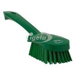 Dish brush With Short Helve Polyester Fiber, Hard 270x70x85mm Green