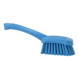 Dish brush With Short Helve Polyester Fiber, Hard 270x70x85mm Blue