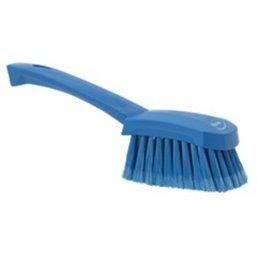 Dish brush With Short Helve Polyester Fiber, Switht, Cloven 270x70x85mm Blue