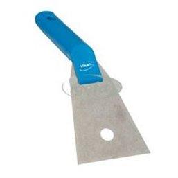 Stainless steel Hand scraper Polypropylene With Stainless Steel Sheet 90x60x240mmx0,7mm Sheet thickness Blue
