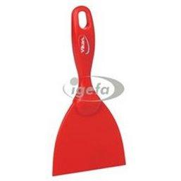 Rechte Brede Handschraper Polypropyleen 102x18x210mm Rood