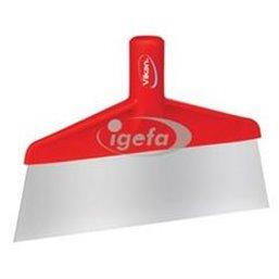 Floor scraper Polypropylene, Stainless Steel Sheet 260x30x175mm Visual Sheet Length Is 70mm Red